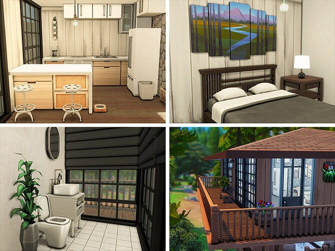 Sims 4 Fire Lookout by xogerardine at TSR