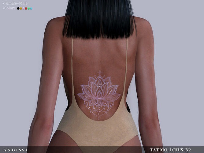 Tattoo Lotus N2 By Angissi