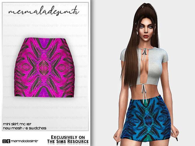 Sims 4 Mini Skirt MC187 by mermaladesimtr at TSR