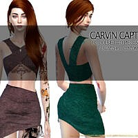 Colbie Two Piece Set Skirt By Carvin Captoor
