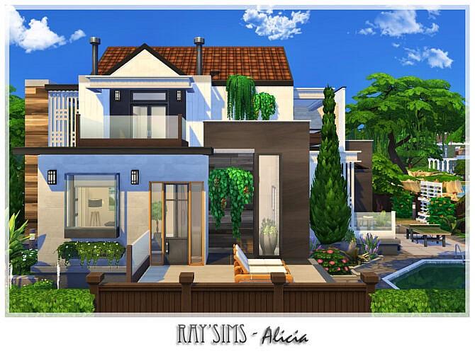 Sims 4 Alicia house by Ray Sims at TSR