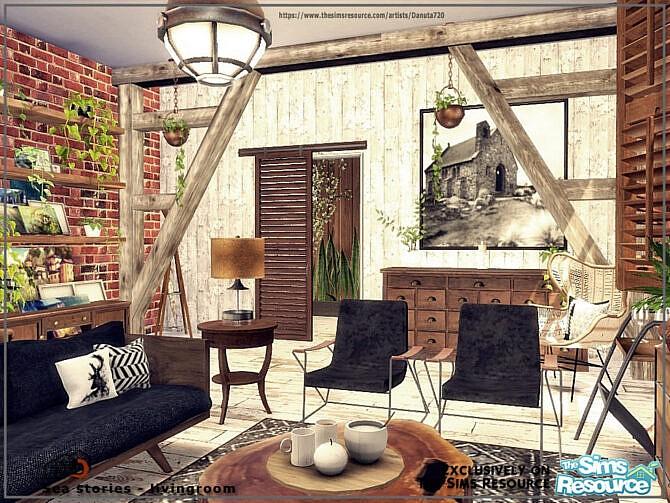 Sims 4 Sea stories livingroom by Danuta720 at TSR