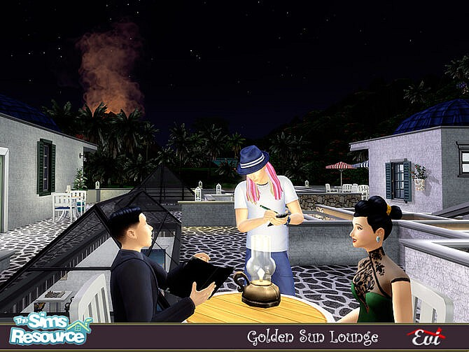 Sims 4 Golden sun lounge by evi at TSR