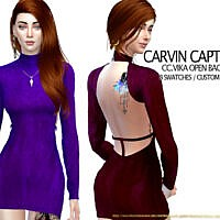 Vika Open Back Dress By Carvin Captoor