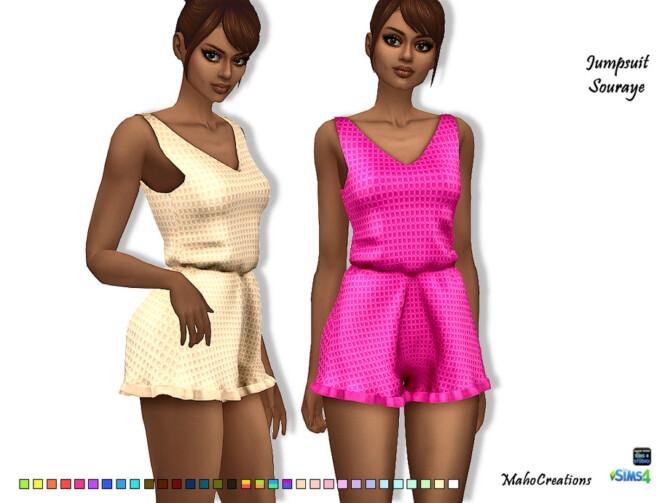 Sims 4 Jumpsuit Souraye by MahoCreations at TSR