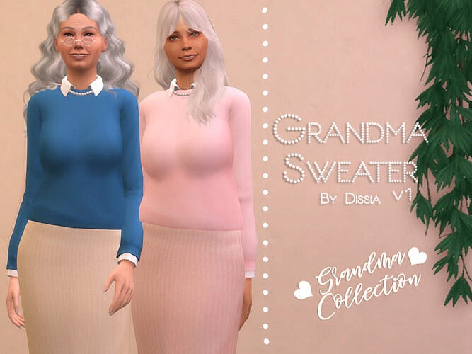 Grandma Sweater V1 By Dissia