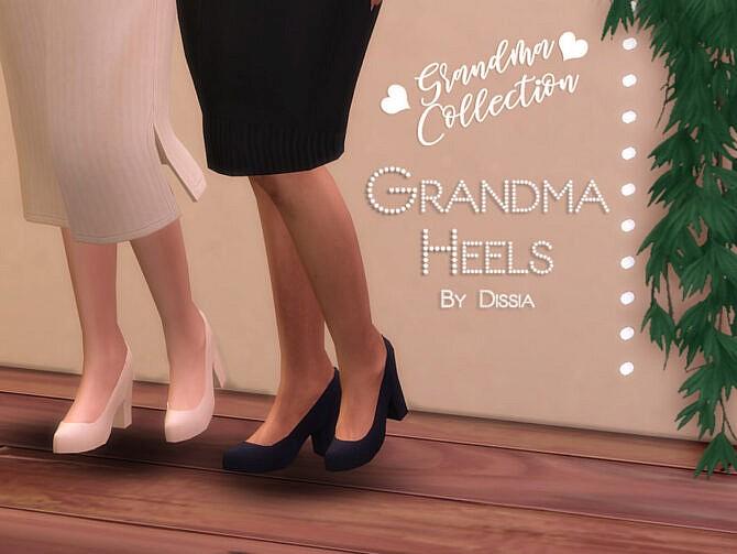 Sims 4 Grandma Heels by Dissia at TSR
