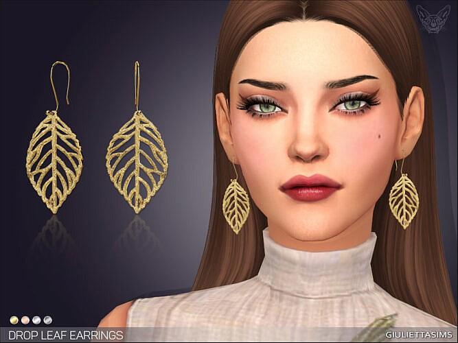 Drop Leaf Earrings By Feyona