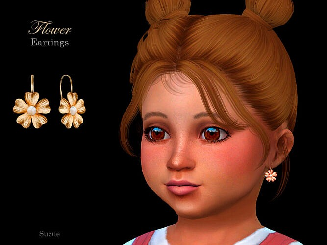 Flower Toddler Earrings By Suzue