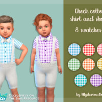 Check Cotton Shirt And Shorts By Mysteriousoo