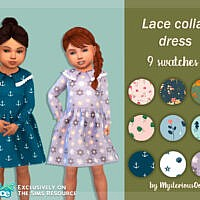 Lace Collar Dress By Mysteriousoo