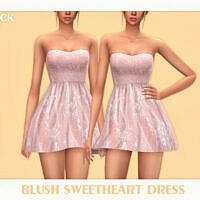 Blush Sweetheart Dress By Black Lily