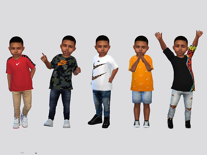 Sims 4 SWOOSH Toddler t shirt by McLayneSims at TSR