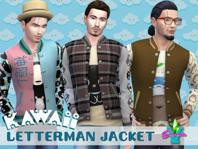 Kawaii Letterman Jacket By Simmiev