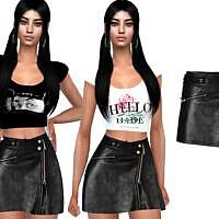 Female Leather Skirt By Saliwa