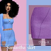 Samantha Exposed Seams Skirt By Akaysims
