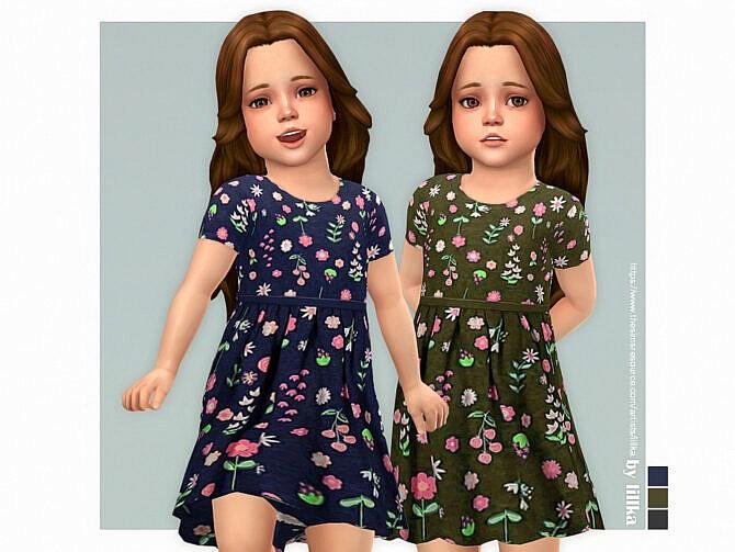 Sims 4 Alma Dress by lillka at TSR