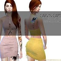 Halter Skirt Set By Carvin Captoor