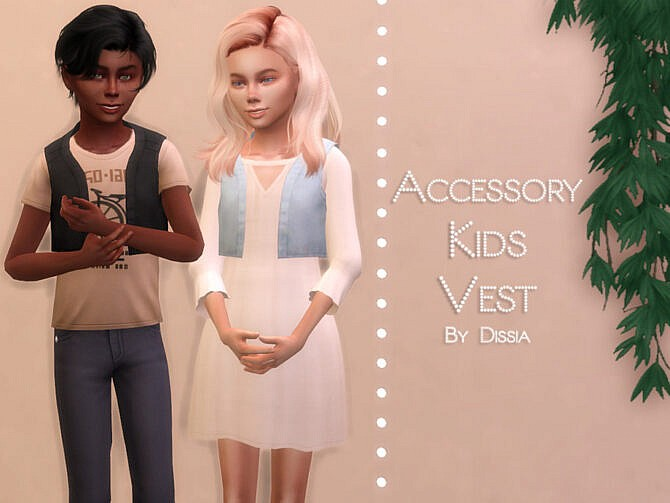 Sims 4 Accessory Kids Vest by Dissia at TSR