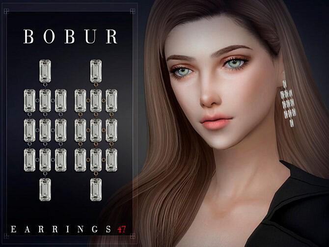 Sims 4 Earrings 47 by Bobur3 at TSR