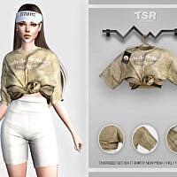Oversized Set-124 (t-shirt) Bd458 By Busra-tr