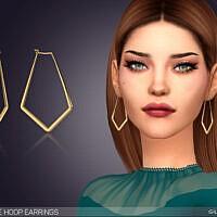 Marquise Hoop Earrings By Feyona