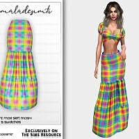 Set- Plaid Print Maxi Skirt Mc194 By Mermaladesimtr