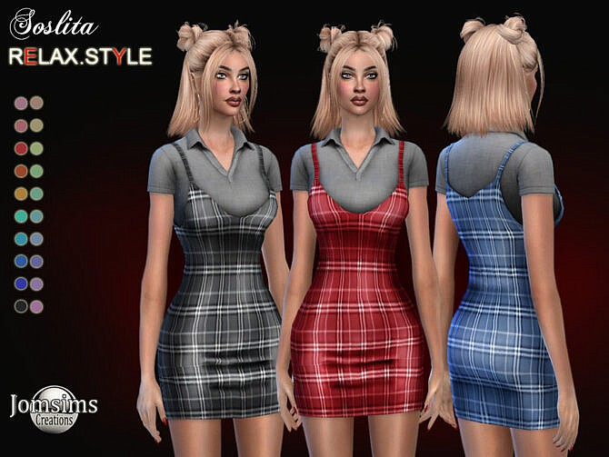 Sims 4 Soslita dress by jomsims at TSR