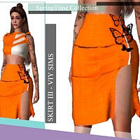 Springtime Collection Skirt Iii By Viy Sims