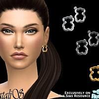 Teddy Bear Stud Earrings By Natalis
