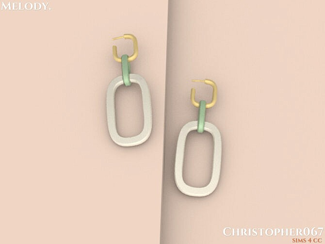 Sims 4 Melody Earrings by Christopher067 at TSR