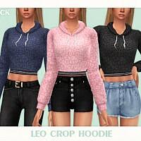 Leo Crop Hoodie By Black Lily