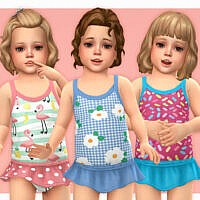 Toddler Swimsuit P16 By Lillka