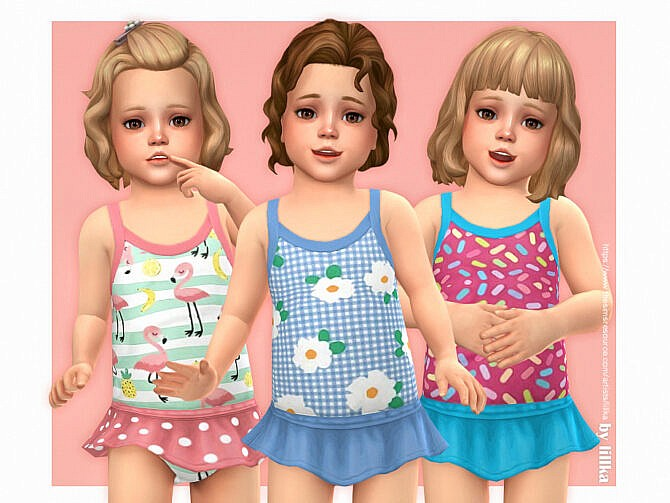 Sims 4 Toddler Swimsuit P16 by lillka at TSR