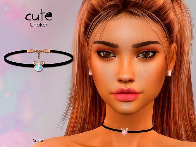 Sims 4 Cute Choker by Suzue at TSR