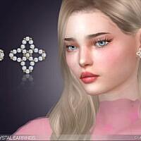 Lotta Crystal Earrings By Feyona