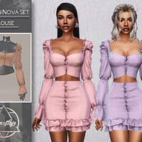 Fashion Nova Set (blouse) By Camuflaje