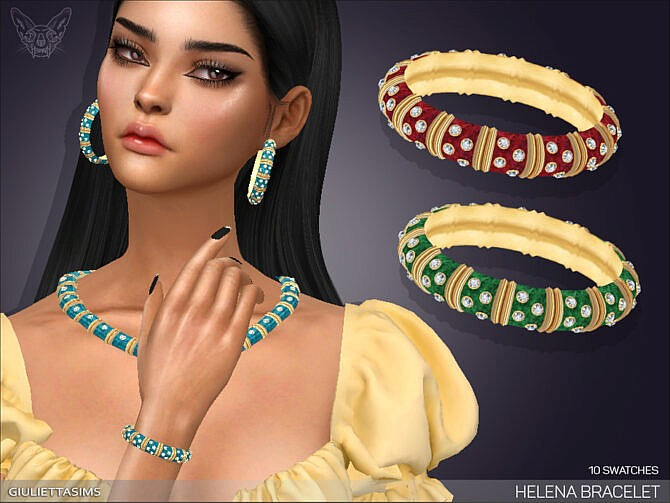 Sims 4 Helena Bracelet (right wrist) by feyona at TSR