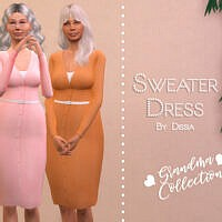 Sweater Dress By Dissia