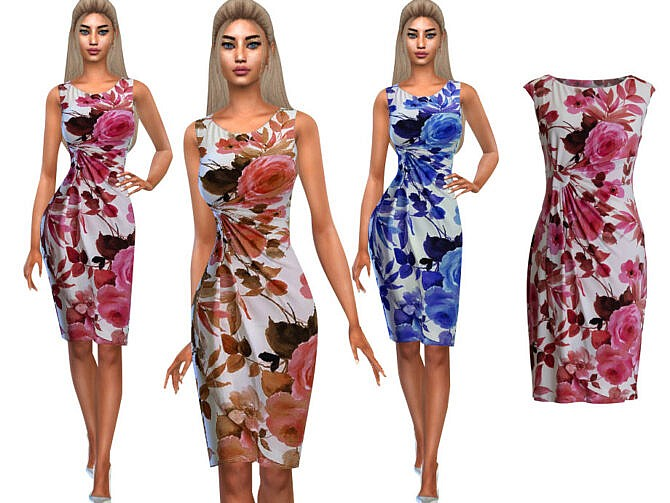 Sims 4 Summer Style Floral Dresses by Saliwa at TSR