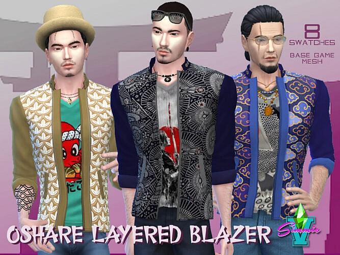 Oshare Layered Blazer V2 By Simmiev