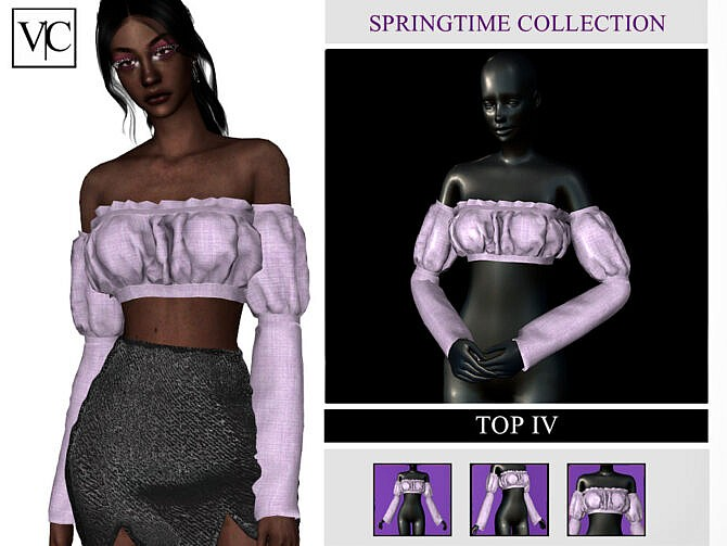 Sims 4 SpringTime Collection Top IV by Viy Sims at TSR