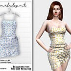Floral Print Dress Mc185 By Mermaladesimtr