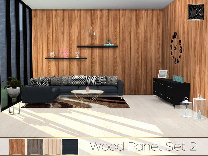 Tx – Wood Panel Set 2 By Theeaax