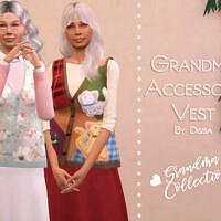 Grandma Accessory Vest By Dissia