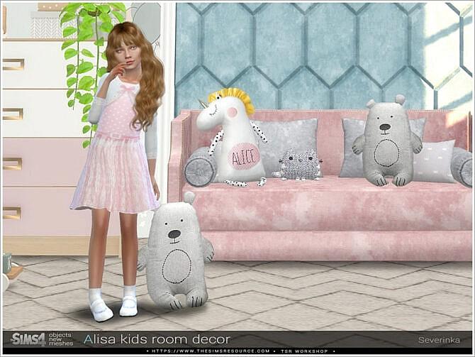 Sims 4 Alisa kidsroom decor by Severinka at TSR