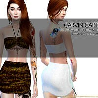 Ciara Cut Out Mini Skirt Set By Carvin Captoor