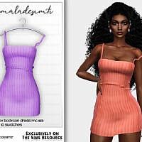 Knitted Strappy Bodycon Dress Mc183 By Mermaladesimtr