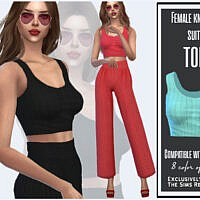 Female Knitted Suit Top By Sims House