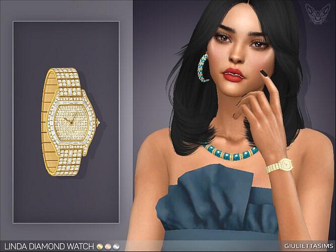 Linda Diamond Watch (left Wrist) By Feyona